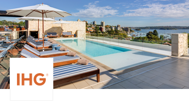 Image of outdoor pool overlooking the bay