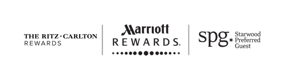 The Ritz Carlton Reward, Mariott Rewards and Starwood Preferred Guest